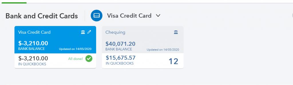 Bank feed, QuickBooks Online